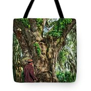 Strolling With Giants Tote Bag