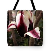 Striped Tulip Tote Bag