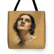 Study Of A Head Tote Bag by Evelyn De Morgan