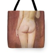 Study Of A Nude Tote Bag by Murray Bladon