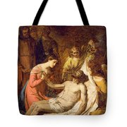 Study Of The Lamentation On The Dead Christ Tote Bag