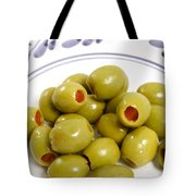 Stuffed Green Olives Tote Bag