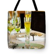 Stylish Dining Table Arrangement Tote Bag