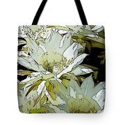 Stylized Cactus Flowers Tote Bag