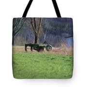 Subsoiler On The Farm  Tote Bag