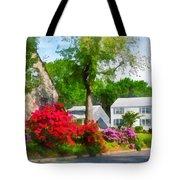 Suburban Azalea Garden Tote Bag