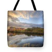 Suburban Sunrise Reflection  Tote Bag