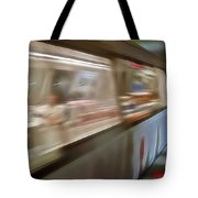 Subway Blur Tote Bag