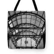 Subway Glass Station In Black And White Tote Bag