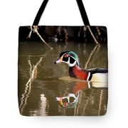 Sucarnoochee River - Suspicious Wood Duck Tote Bag