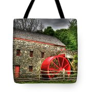 Sudbury - Storm Looms At The Grist Mill Tote Bag