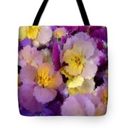 Sugared Pansies Tote Bag