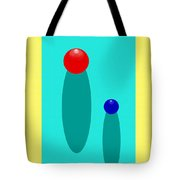 Summer Balls Red And Blue Tote Bag