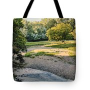 Summer Evening Along The Creek Tote Bag