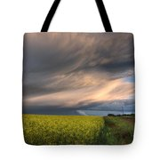 Summer Evening Storm Blowing Over Ripe Tote Bag by Dan Jurak