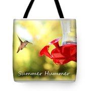 Summer Hummer Poster Tote Bag