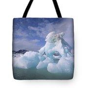 Summer Icebergs, Spitsbergen Island Tote Bag