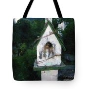 Summer Night With Birdhouse Tote Bag
