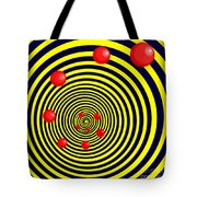 Summer Red Balls With Yellow Spiral Tote Bag