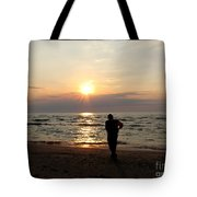 Summer Sunset Solitude Tote Bag