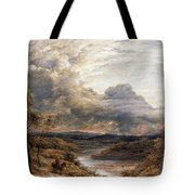 Sun Behind Clouds Tote Bag by John Linnell