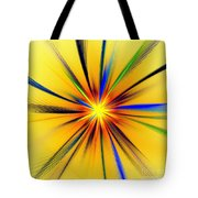 Sun Behind The Palm Leaves Tote Bag