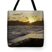 Sun Going Down Over Dubrovnik Tote Bag