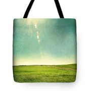 Sun Over Field Tote Bag