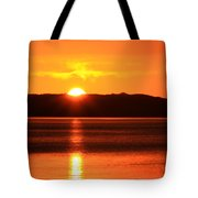 Sun Over Rotortua Nz Tote Bag