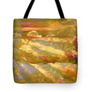Sun Peeking Through Clouds Tote Bag
