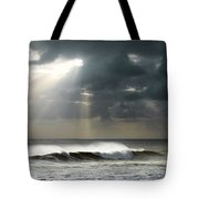 Sun Rays On Ocean Tote Bag