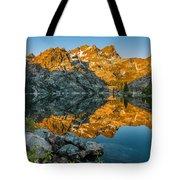 Sun Rises On Upper Sardine Lake Tote Bag