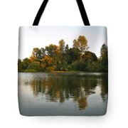 Sun Setting On The Lake Tote Bag