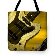 Sun Stained Yellow Electric Guitar Tote Bag