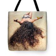 Sunbathing Woman Tote Bag