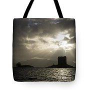 Sunbeams On Castle Stalker Tote Bag