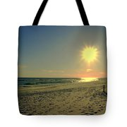 Sunburst At Henderson Beach Florida Tote Bag by Susanne Van Hulst
