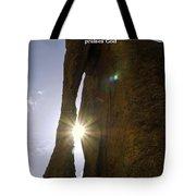 Sunburst Through Spire Tote Bag