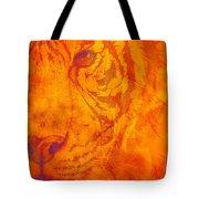 Sunburst Tiger On Fire Tote Bag