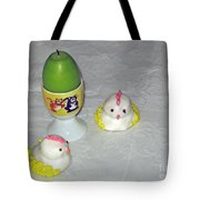Easter Chicks And Kitties Tote Bag