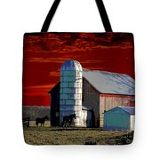 Sundown On The Farm Tote Bag