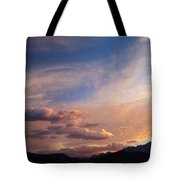 Sundown On The Sierras Tote Bag