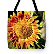 Sunflower And Bud Tote Bag