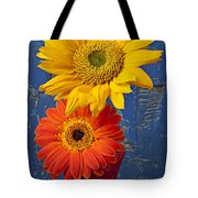 Sunflower And Mum Tote Bag