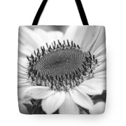 Sunflower Bloom Black And White Tote Bag