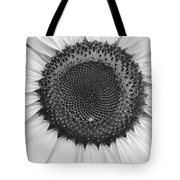 Sunflower Center Black And White Tote Bag