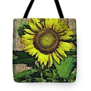 Sunflower Face Tote Bag