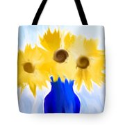 Sunflower Fantasy Still Life Tote Bag