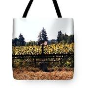 Sunflower Farm Scene Tote Bag