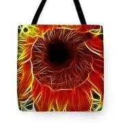 Sunflower Fractal Tote Bag